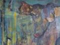 Fuersorge, Mischtechnik, Leinwand 60x50 cm